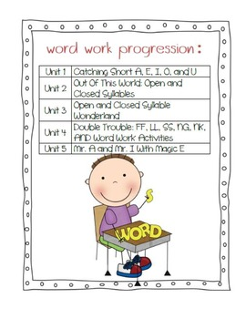 Second Grade Word Work Bundle #1
