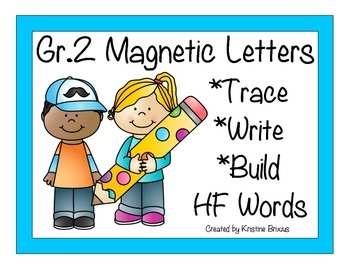 Second Grade Write and Build Words with Magnetic Letters K