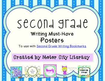 Second Grade Writing Posters FREEBIE