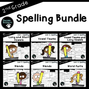 2nd Grade Spelling Curriculum (over 600 editable items, Co