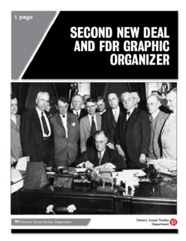 Second New Deal and FDR Graphic Organizer
