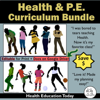 Health and P.E. Curriculum Bundle: Save 15% on #1 Best-Sel