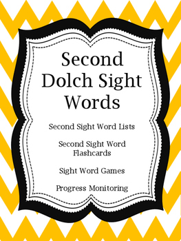 Second Sight Word Flashcards and Games