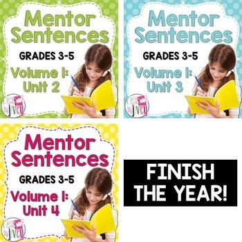 Second, Third, and Fourth Mentor Sentence Units (Vol 1) Bu