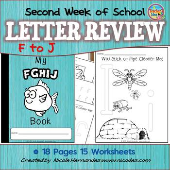 Second Week of Kindergarten  {Letter Review 'f' to 'j'}