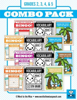 Second through Fifth Grade Tier 2 Vocabulary Combo Pack