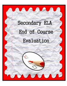 Secondary ELA Course Evaluation
