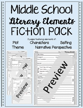 Intermediate and Middle School Literary Elements Pack
