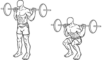 Secondary Parallel Squats with Barbell Fitness Lesson Plan