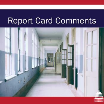 Secondary Report Card Comments