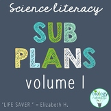 Science Sub Plans for Secondary Science