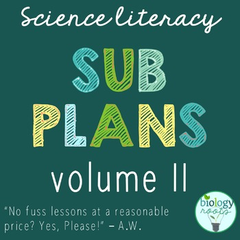 Science Sub Plans for Secondary Science - Volume II