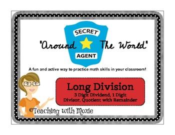 Scavenger Hunt Math - Long Division 3 Digit Dividend