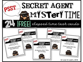 Secret Agent Mystery Time Task Cards