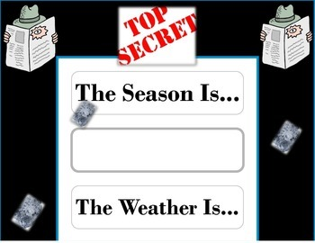 Secret Agent Weather Chart! Super Sleuth! Mystery Bulletin