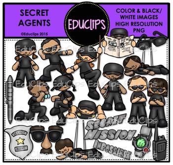 Secret Agents Clip Art Bundle