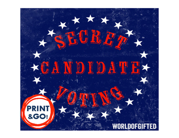 Secret Identity Election/Mystery Candidate Lesson: Electio