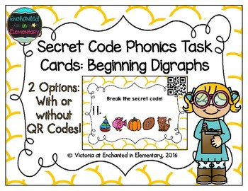 Secret Code Phonics Task Cards: Beginning Digraphs