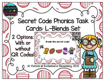 Secret Code Phonics Task Cards: L-Blends Set