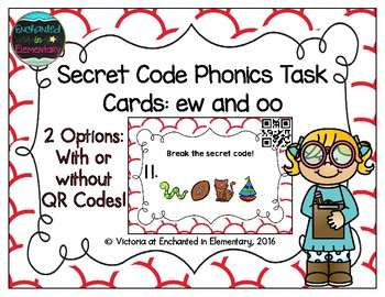 Secret Code Phonics Task Cards: ew and oo