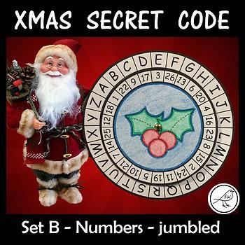 Secret Code Wheel - Alphabet & Numbers (jumbled) -  Christ