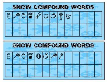 Secret Code Words: Snow Compound Words