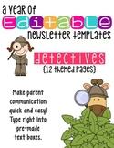 Editable Newsletter Templates (12 included): Secret Detect