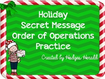 Secret Message Order of Operations FREEBIE