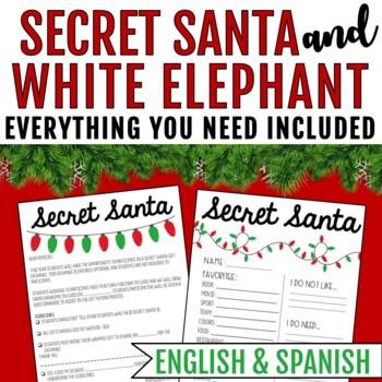 Secret Santa Letter & Questionaire