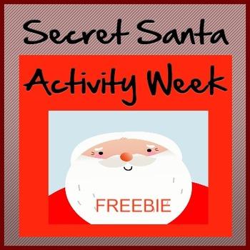 Secret Santa Week Activity