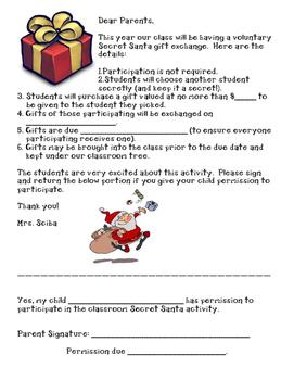 Secret Santa permission slip