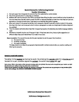 Secret Scenarios - Inference Group Activity Center #2
