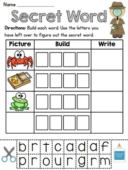 Secret Words Literacy Station (43 fun word work centers fo