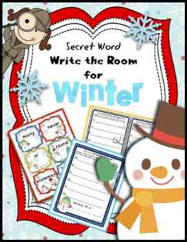Secret Word Write the Room for Winter