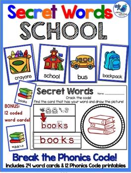 Secret Words Seasonal: All About School (Phonics Codes) Wh
