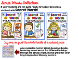 Secret Words Bundle (3 Sets - 250 pgs) Whimsy Workshop Teaching