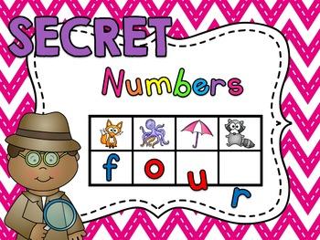 Secret Words - Number Words