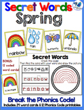 Secret Words Seasonal: Springtime (Phonics Codes) Whimsy W