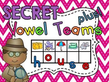 Secret Word Vowel Teams (167 vowel pairs center word build