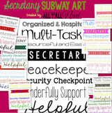 Secretary Subway Art