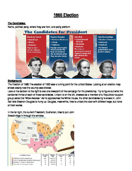 Sectionalism: Abraham Lincoln and the 1860 Election: Cause