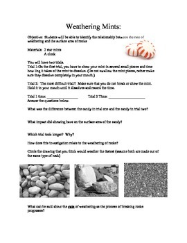 Sedimentary Rocks: An inquiry based investigaion of surfac