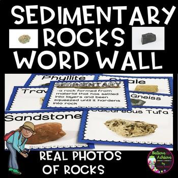 Sedimentary Rocks Word Wall Cards