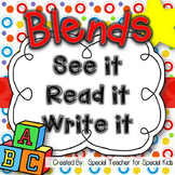 See It, Read It, Write It-- BLENDS  {Word Work Centers and
