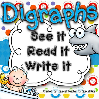 ** See It, Read It, Write It-- DIGRAPHS {Word Work Centers