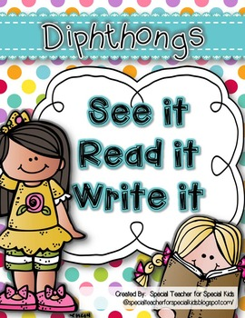 See It, Read It, Write It- Diphthongs {Word Work Centers &