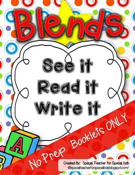 See It, Read It, Write It- NO PREP  **BLENDS**