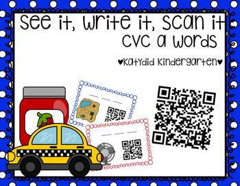 See It, Write It, Scan It CVC a Words, QR codes