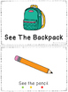 See The Backpack - a leveled reader & activities