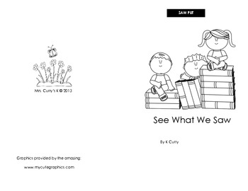 See What We Saw Emergent Reader
